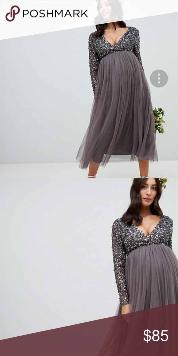 1c132b1f15f8f Asos new years dress (fits maternity) Beautiful sequence long sleeve top  and tulle skirt