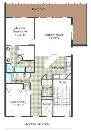 Calypso 2 Bedroom Floor Plan Towers Ii No Bunk Room
