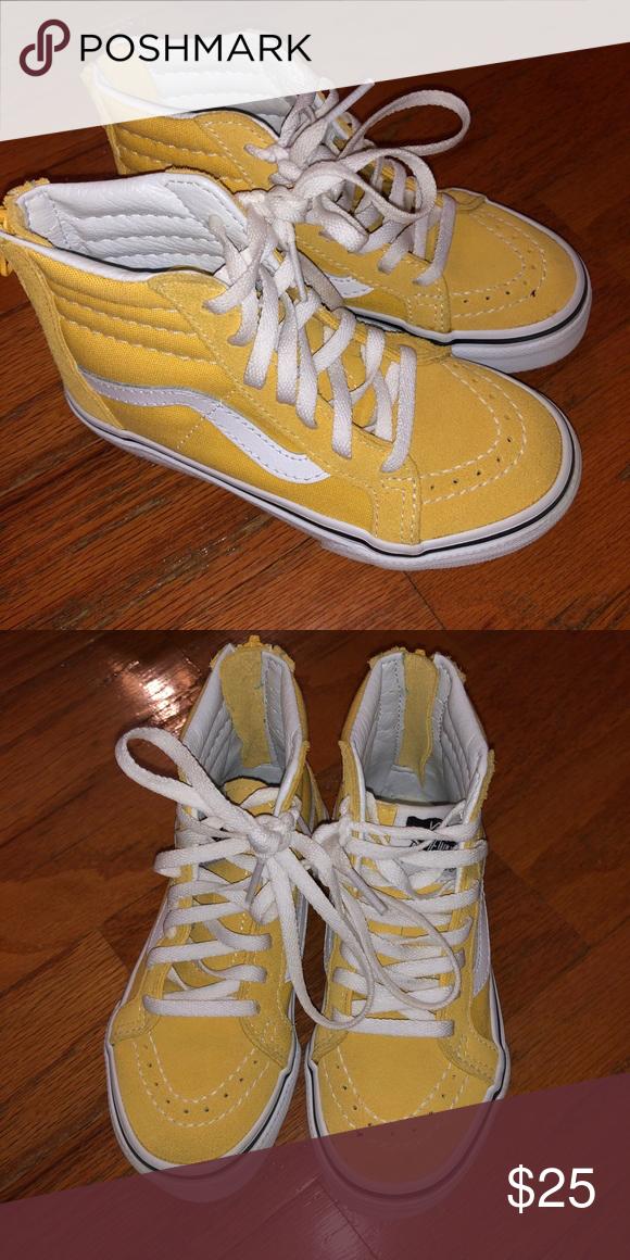Yellow sneakers, Yellow vans, Sk8 hi vans