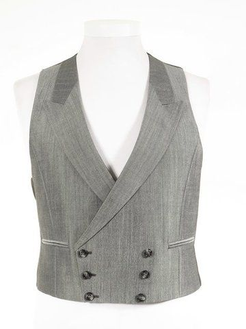 Buy top quality ex-hire men s double breasted morning wedding suit  waistcoats. Matching silver grey tailcoat b9e57b3e365