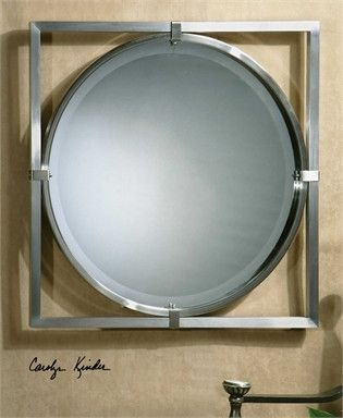 Uttermost Kagami Brushed Nickel Mirror | Products | Pinterest | Brushed  Nickel Mirror, Brushed Nickel And Products