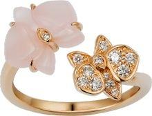 4786b033ba50a Caresse d'Orchidées par Cartier ring Pink gold, pink chalcedony ...