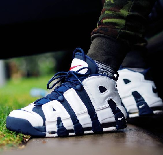 Womens size the best Nike UPTEMPO Olympic Navy UA sneakers in 2019 ... b2b88cadda