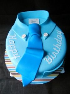 Shirt and tie birthday cake.