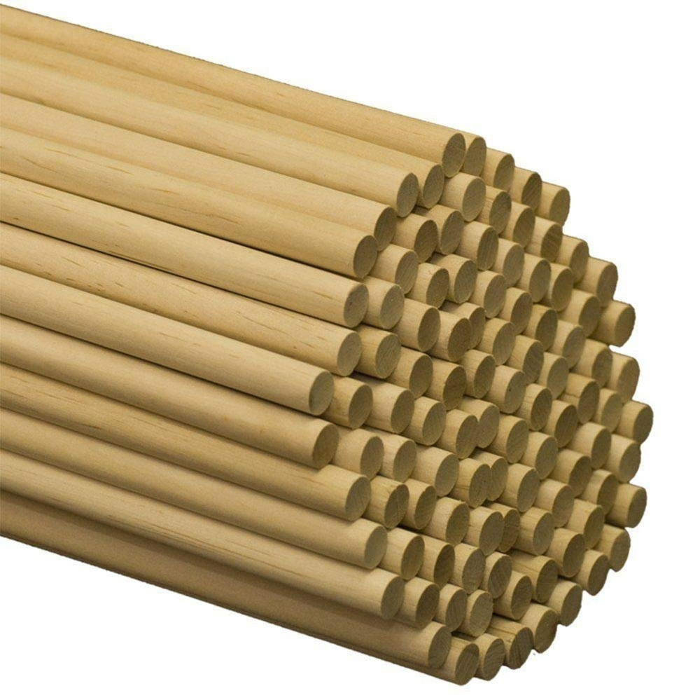 Wooden Dowel Rods 1 2 X 36 Unfinished Hardwood Sticks By Etsy In 2020 Crafts Diy Cans Wood Sticks