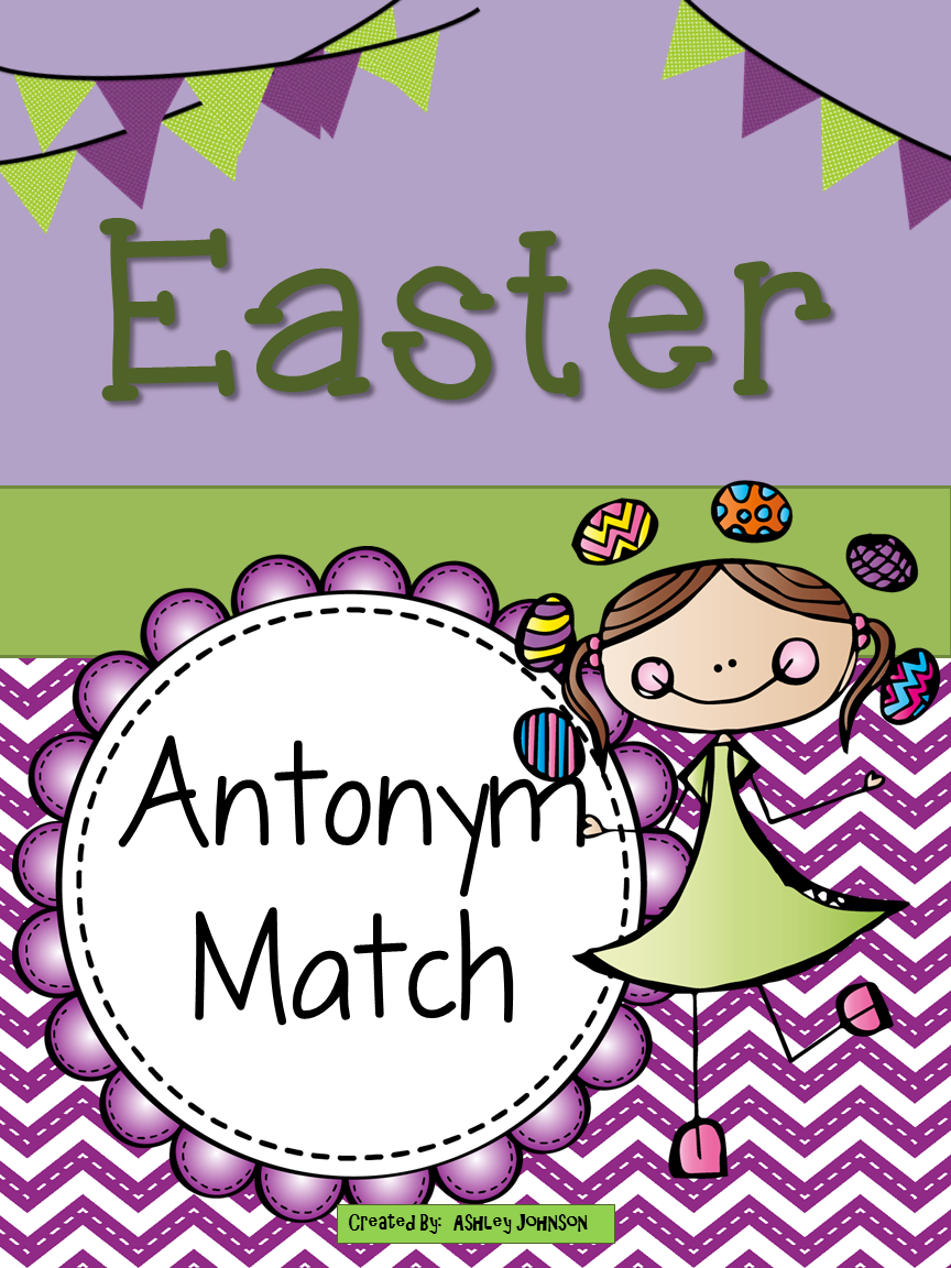 This Easter Antonym match is a great activity for whole or small groups and literacy centers.  $