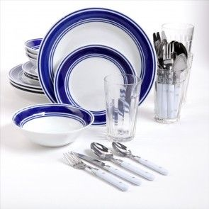 Gibson Home Basic Living 32 Piece Combo Set Cobalt. Dinnerware ... & Gibson Home Basic Living 32 Piece Combo Set Cobalt | Dishes ...
