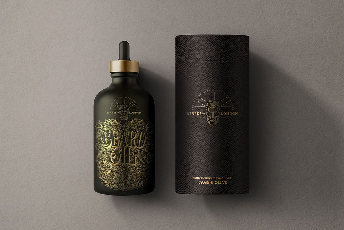 Keep Your Beard In Check With This Elegant Beard Oil Beard Oil Packaging Luxury Branding Identity Cosmetic Packaging Design