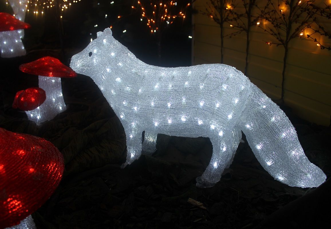 Konstsmide led light up fox perfect for in your home or garden animal mozeypictures Images