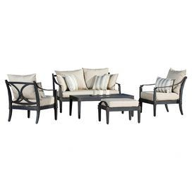 5-Piece Alice Patio Seating Group in Slate