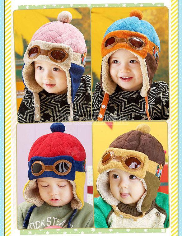 618c6b9360a5c1 Kids Winter Warm Add Wool Pilot Hat Earflap Cap $4.05 | Kids | Baby ...