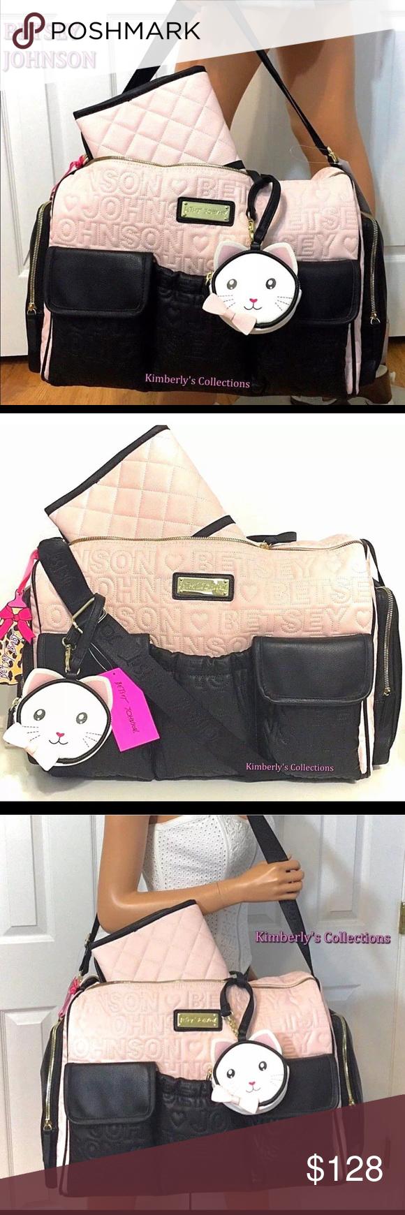 5feaa85d1e11 BETSEY JOHNSON Diaper Bag Duffel Weekender Tote Betsey Johnson Baby Diaper  Bag Duffel Weekender Travel Tote