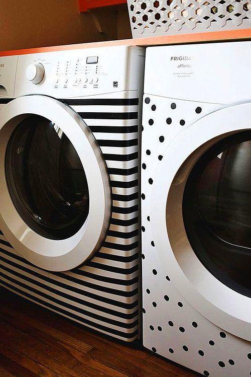 Sadece İp ve Bant Kullanarak Evinizde Mucizevi Dokunuşlar Yaratacak 15 Dekoratif Fikir #laundryrooms