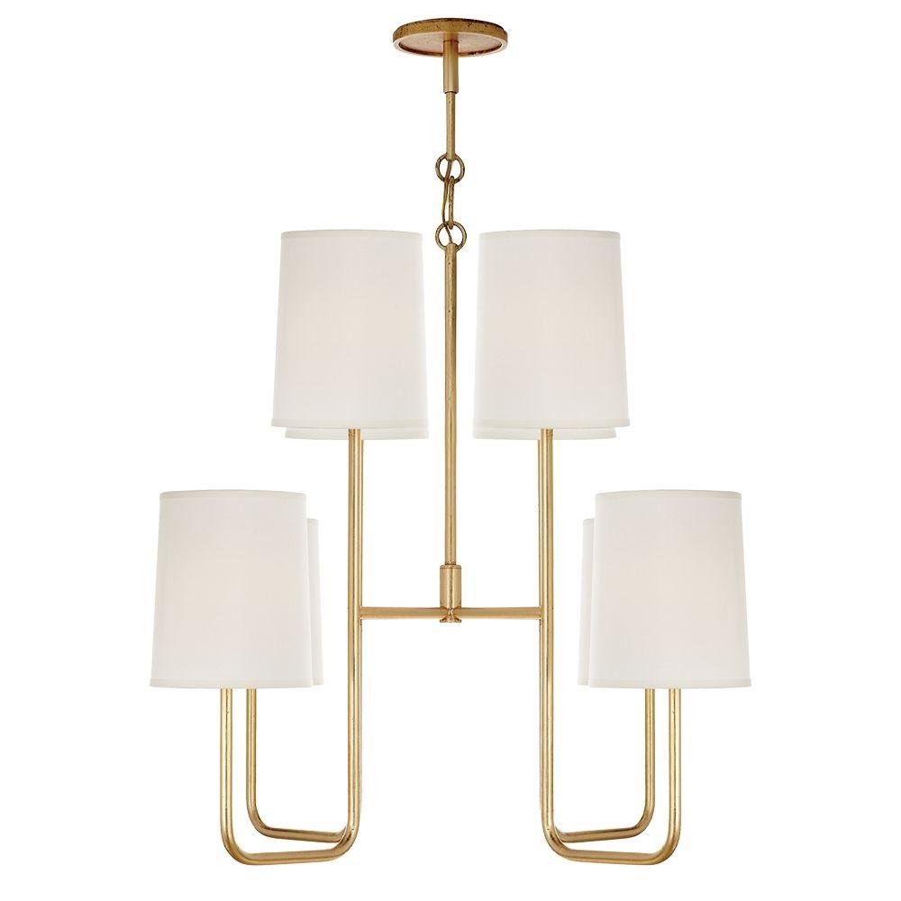 Barbara barry go lightly medium enamaled chandelier in gilded with barbara barry go lightly medium enamaled chandelier in gilded with silk shades by visual comfort bbl5081g arubaitofo Images