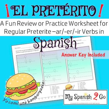 Ap Bio Worksheets Preterite Tense Regular Arerir Verbs A Fun Practice Or  Activities Worksheets with Classifying Triangles By Angles Worksheet Word Students Math Quiz Worksheet Word