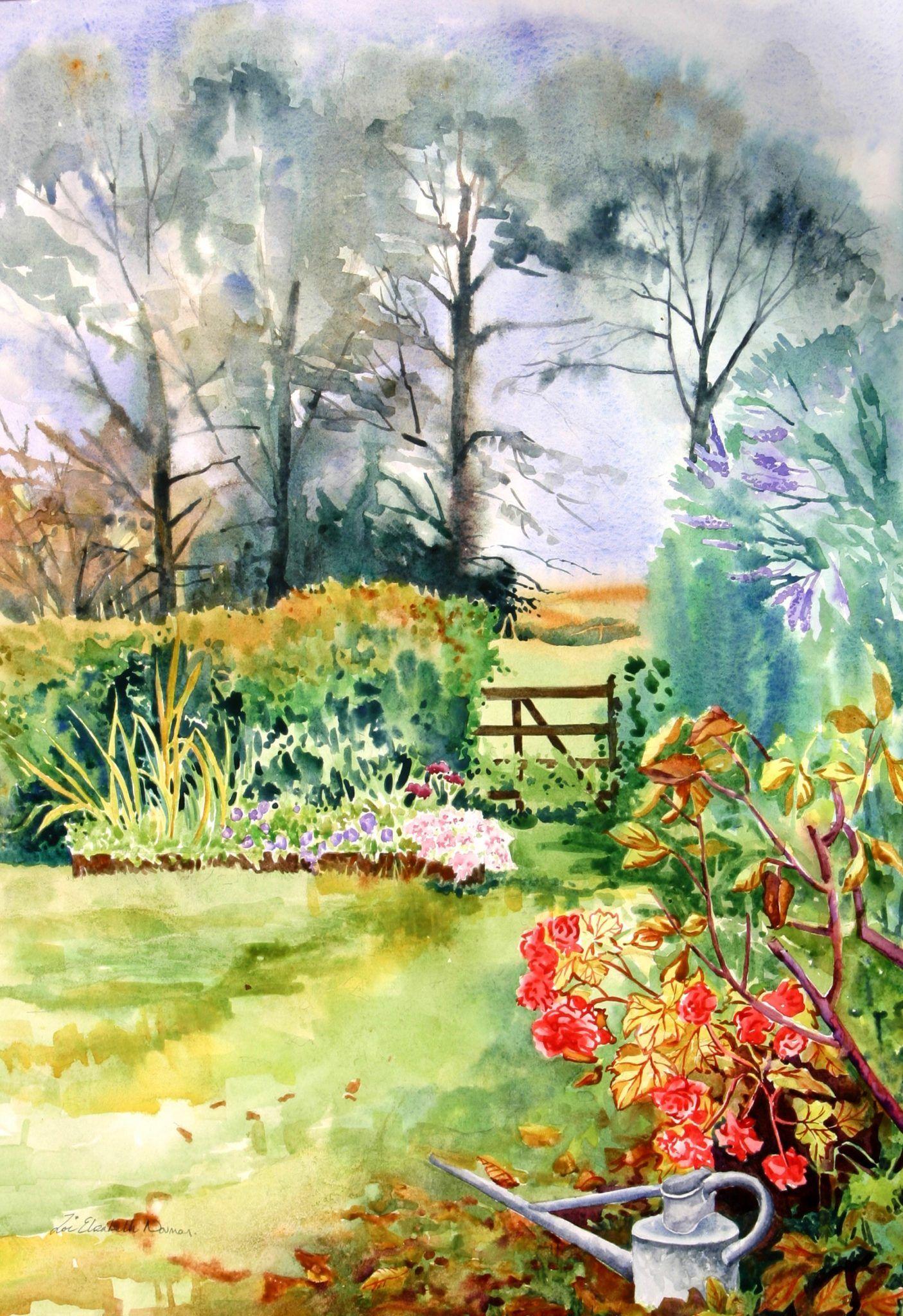 View Autumn Garden By Zoe Elizabeth Norman Browse More Art For