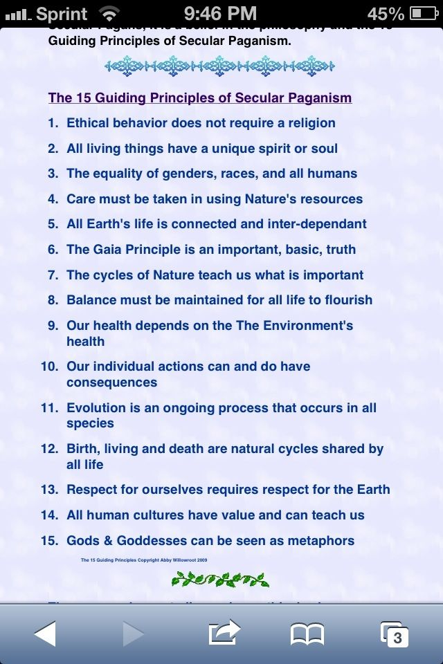 Book of Shadows:  The 15 Guiding Principles of Secular Paganism. Interesting.