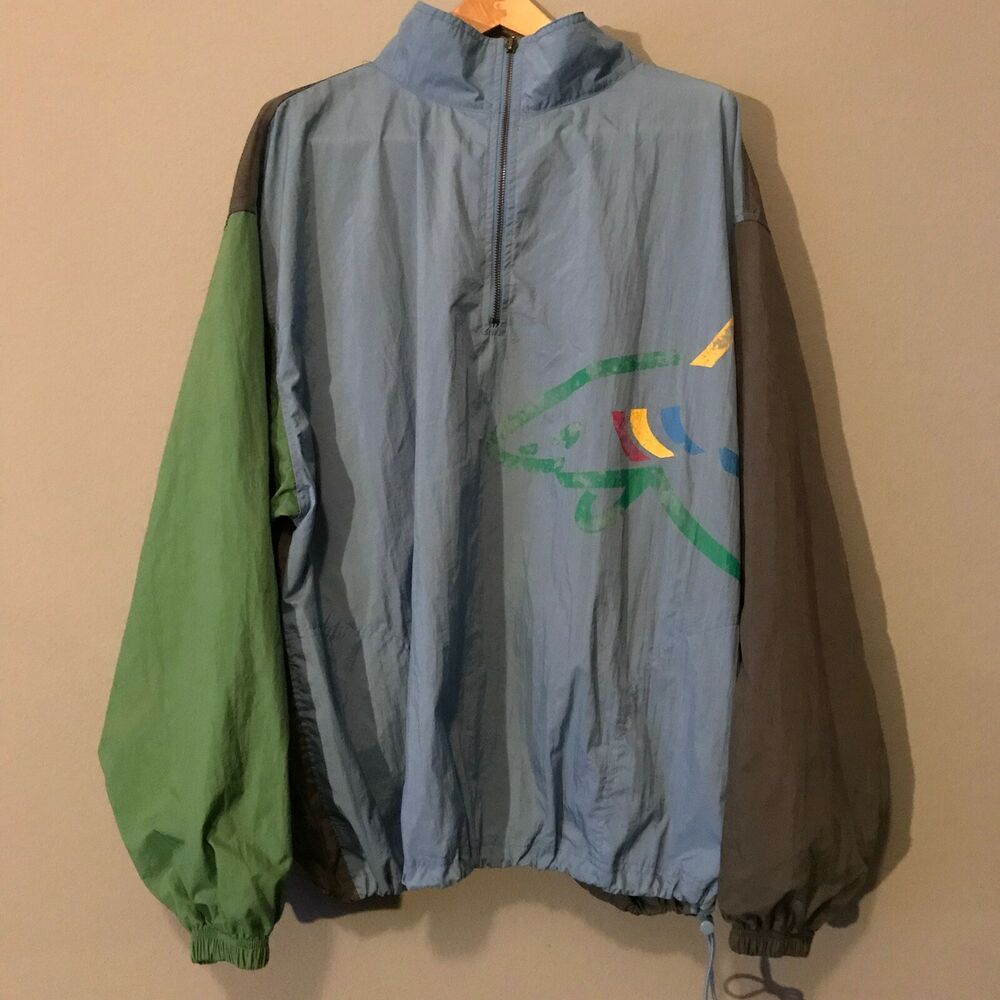 Vintage Reebok Greg Norman Collection Windbreaker Jacket Color Blocked Size Xl Ebay Windbreaker Jacket Windbreaker Vintage Nike Windbreaker