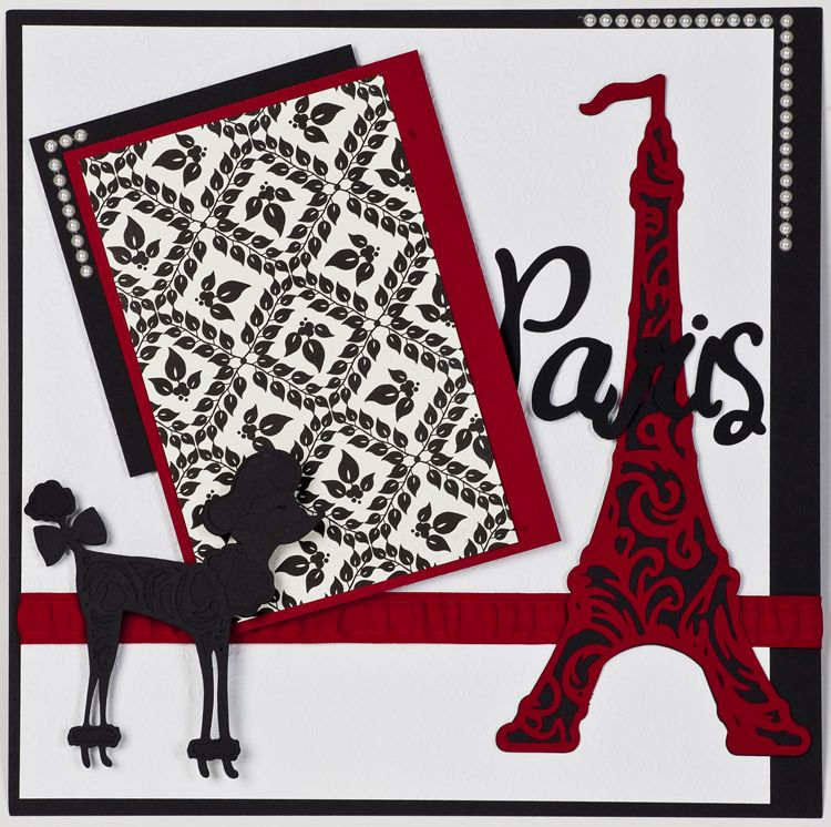 Create this Paris Layoutto show off your Paris vacation! Summer in Paris, Plantin SchoolBook, and Accent Essentials cartridges were used in this layout!