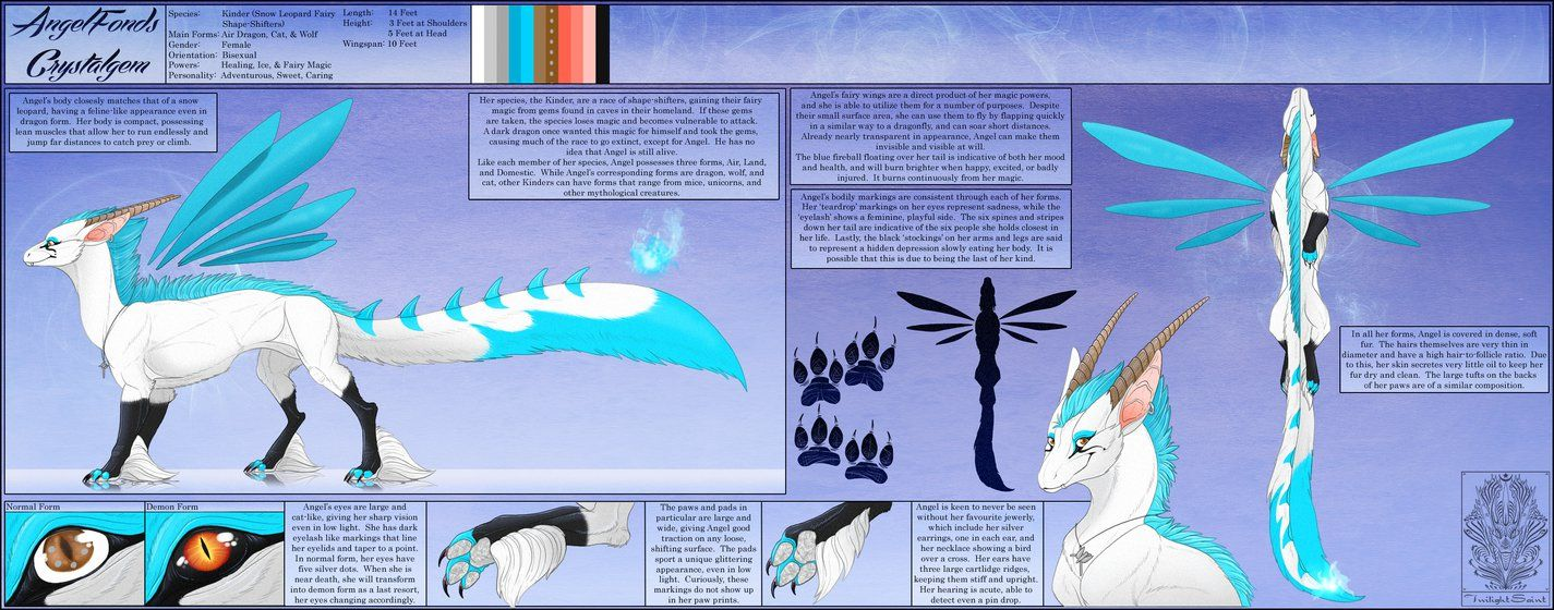 Ref Sheet Comish - Angel by TwilightSaint on DeviantArt
