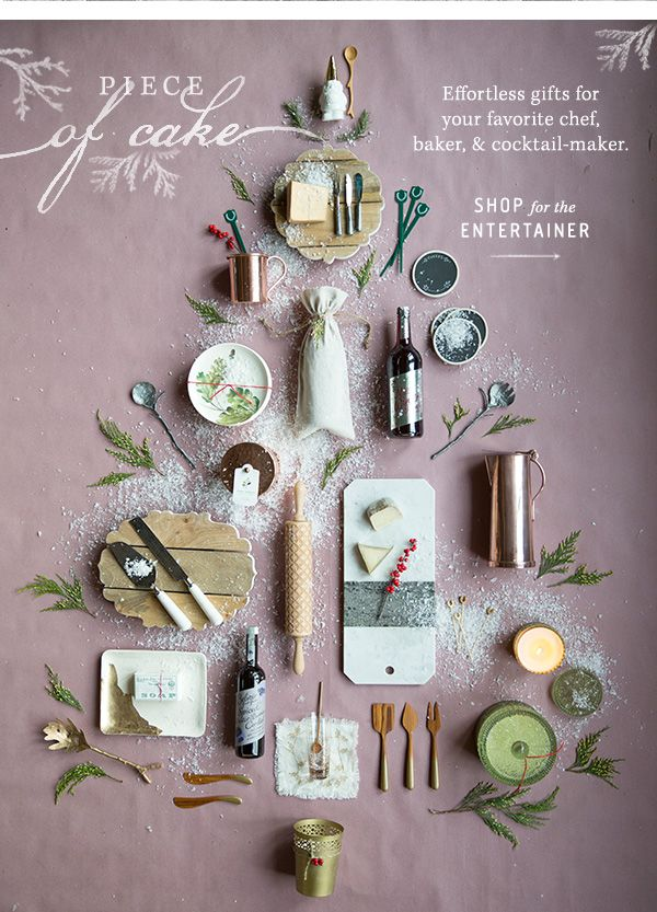 Entertaining Gifts. pretty holiday ad for Terrain