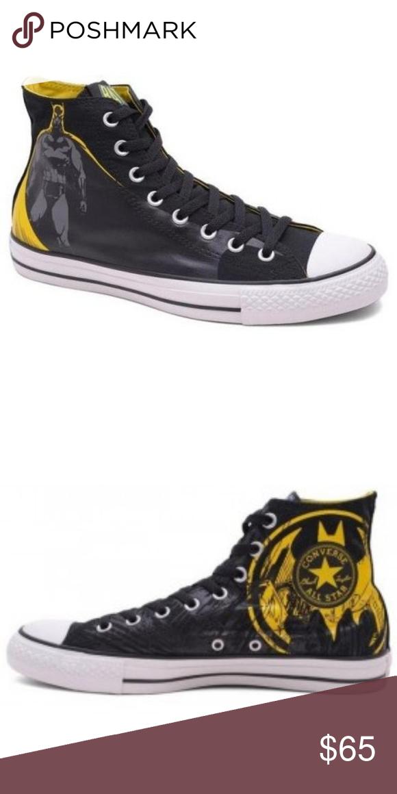 3f2f27cb104a Batman High Top Converse •Chuck Taylor DC Comics Converse •Batman Graffiti  Print •Black