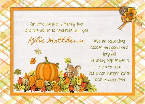 Awesome Pumpkin Birthday Invitations Ideas Download this invitation - birthday invitation card empty