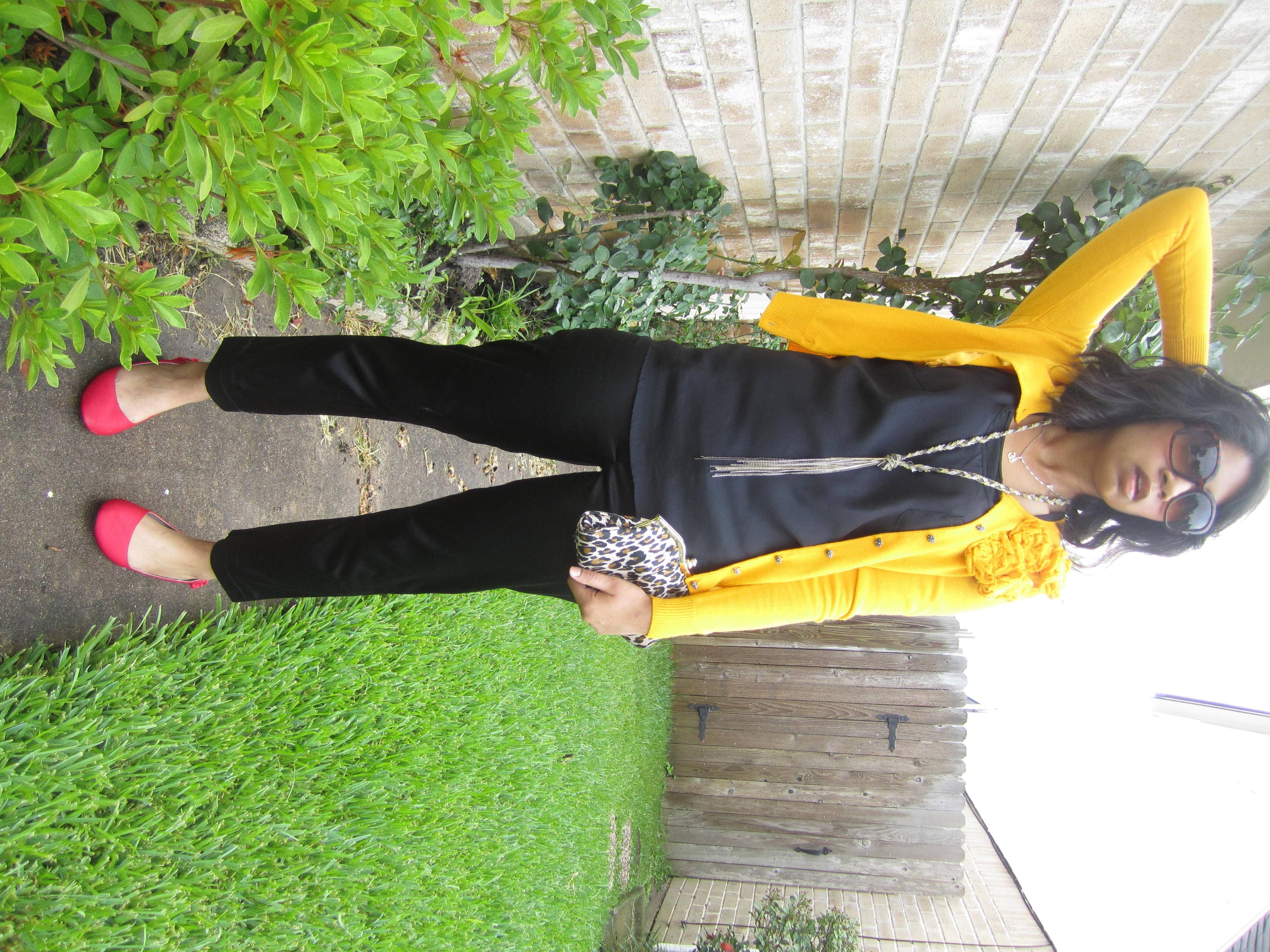 yellow sweater | Mustard Yellow Cardigan – NY & Co., Black Sateen ...