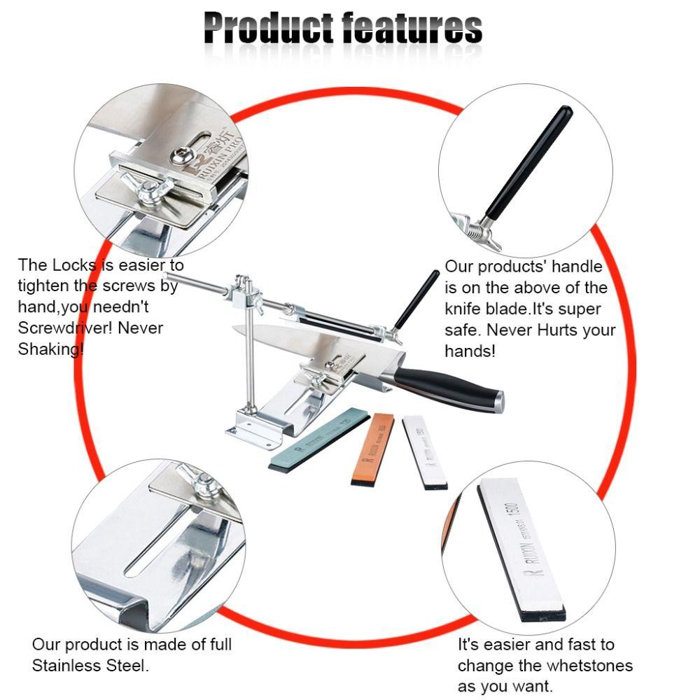 RUIXIN PRO III Knife Sharpener Professional All Iron Steel Kitchen ...