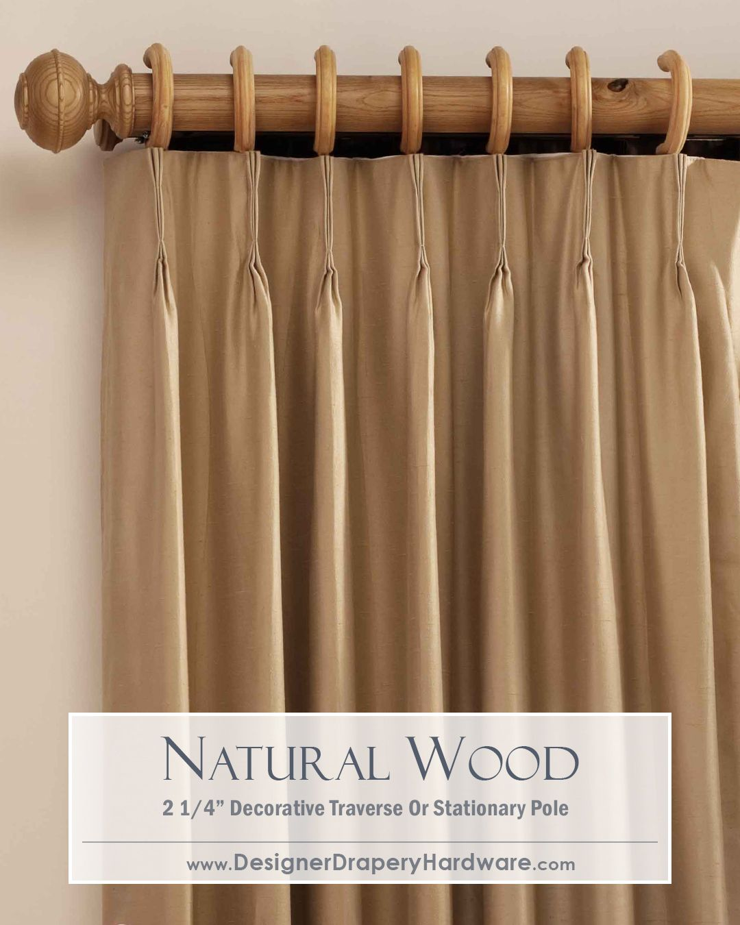 Youll Really See The Beautiful Wood Grain In These Natural Curtain Rods They