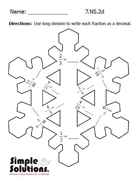 Seventh Grade Math Worksheet Free Download Math Snow Ccss Http Summersolutions Net Blog Flur Winter Math Worksheets Seventh Grade Math Math Worksheets
