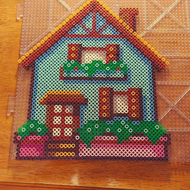 House perler beads by chuckie_sue | Perler bead templates ...