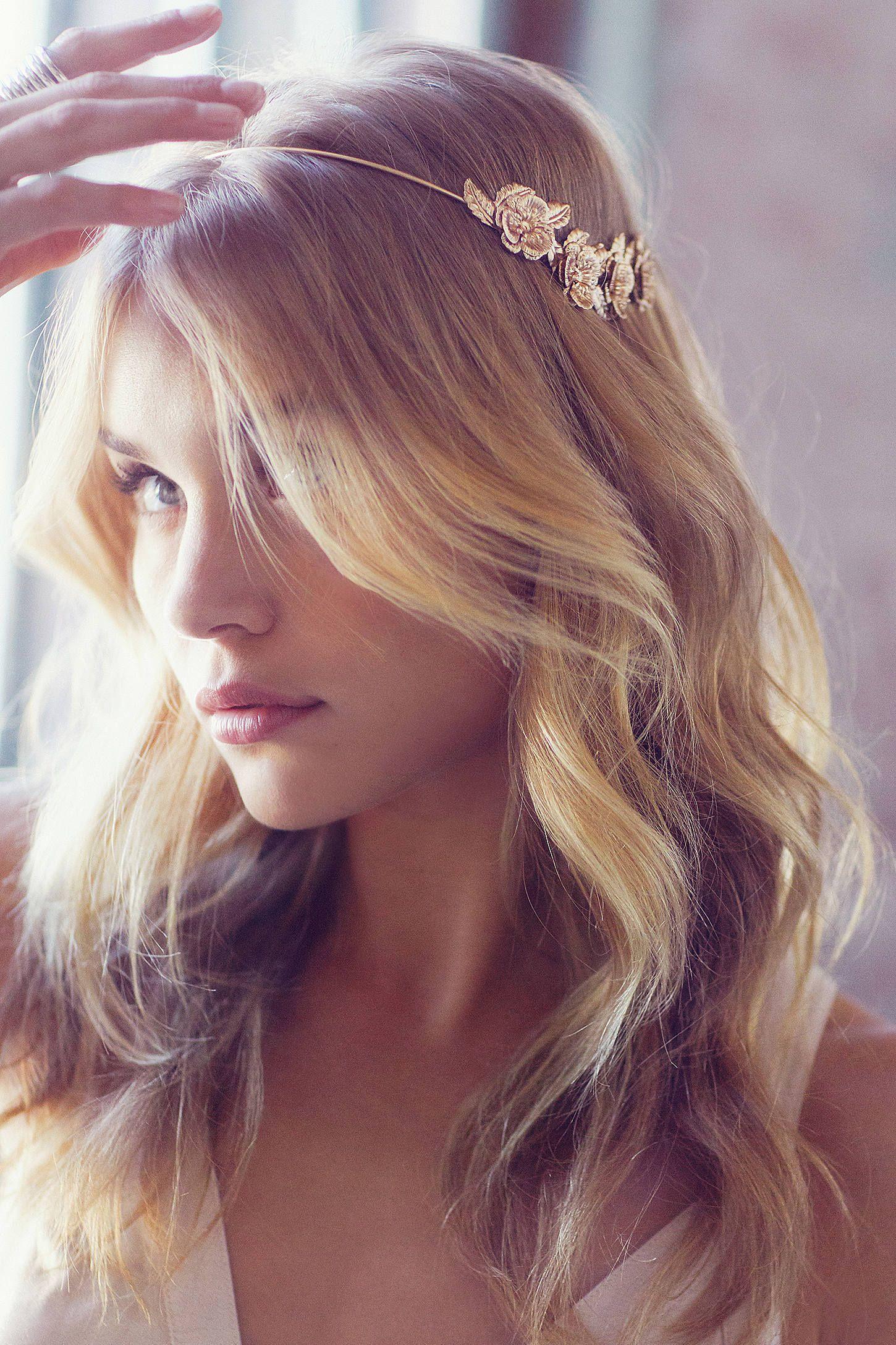 Golden flower halo headband flower halo headband