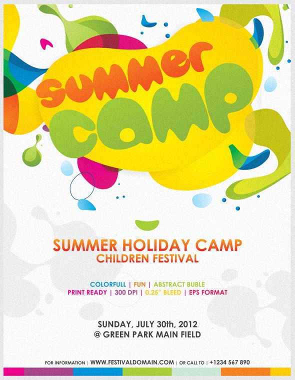 Colorfull Summer Camp Fest Flyer On Behance  Poster