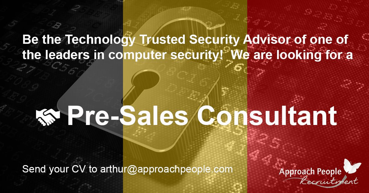 Software #Sales #Engineer - #IT #Security wanted in #Belgium! http - sales engineer job description