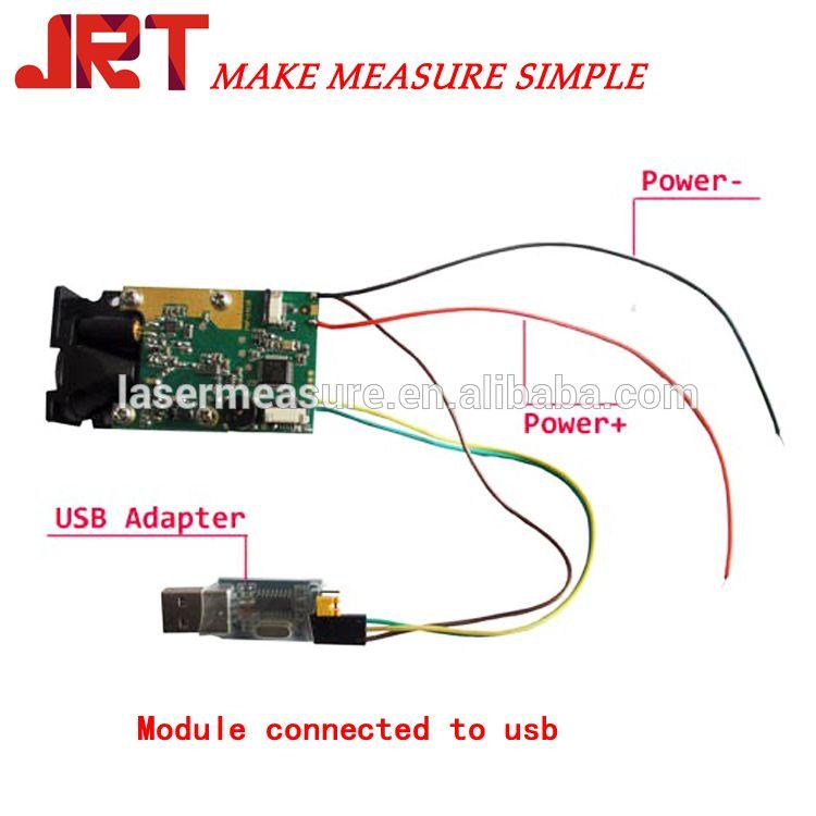Arduino supported Laser Distance Range Sensor Robot Measure