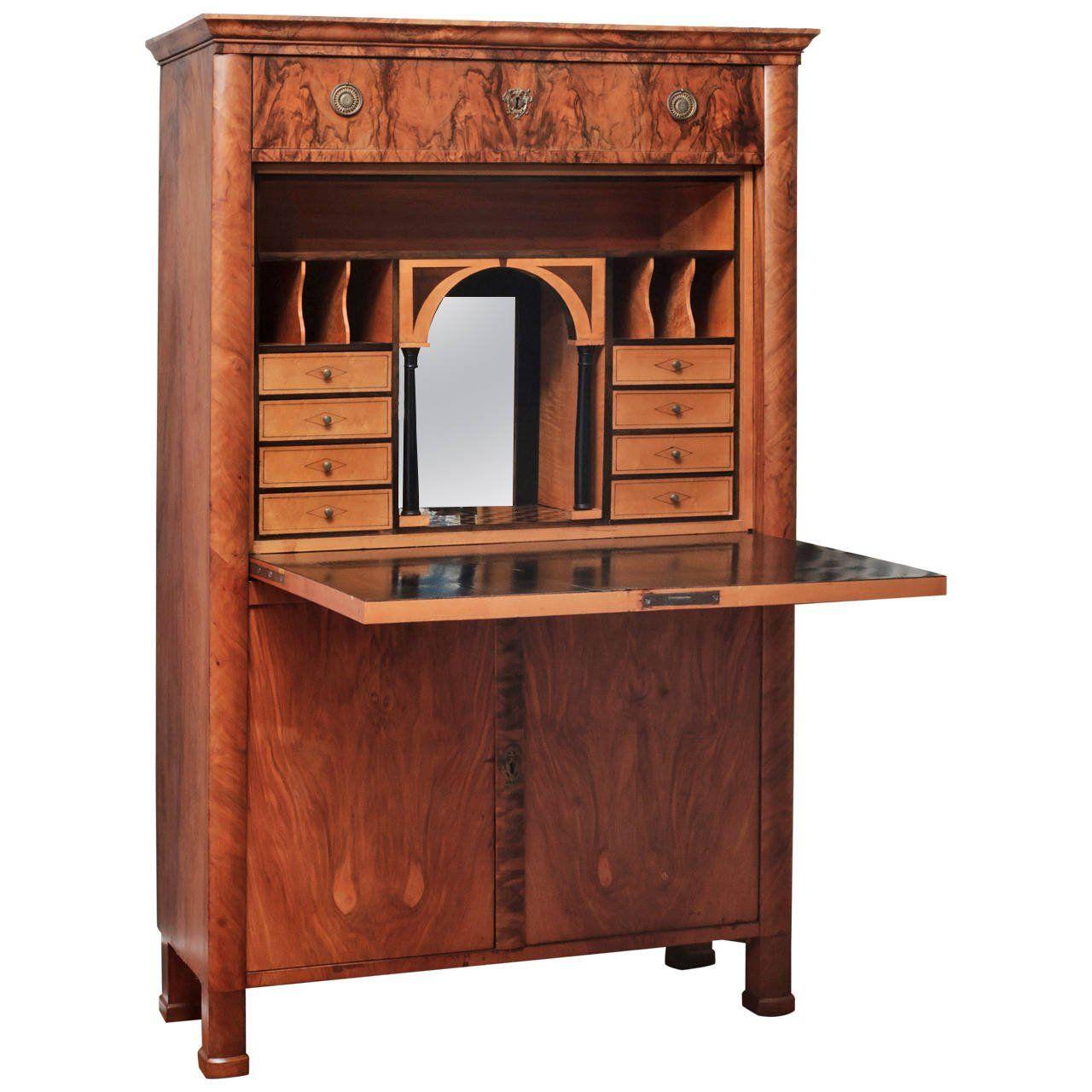 Biedermeier Secretaire a Abattant | From a unique collection of antique and modern secretaires at https://www.1stdibs.com/furniture/storage-case-pieces/secretaires/