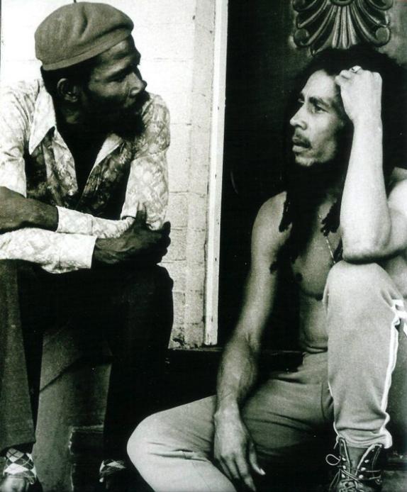 BOB MARLEY talking with friend, mentor and music teacher JOE HIGGS... | Bob marley, Bob marley legend, Marley
