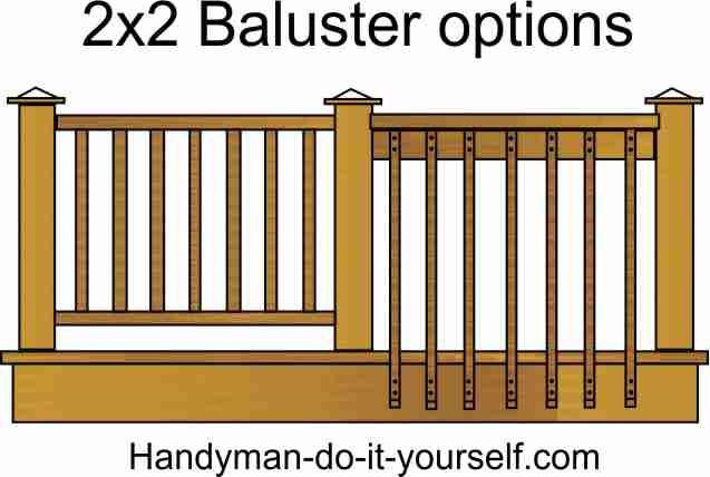 Deck Rail Baluster Options Building A Deck Deck Railings House Deck