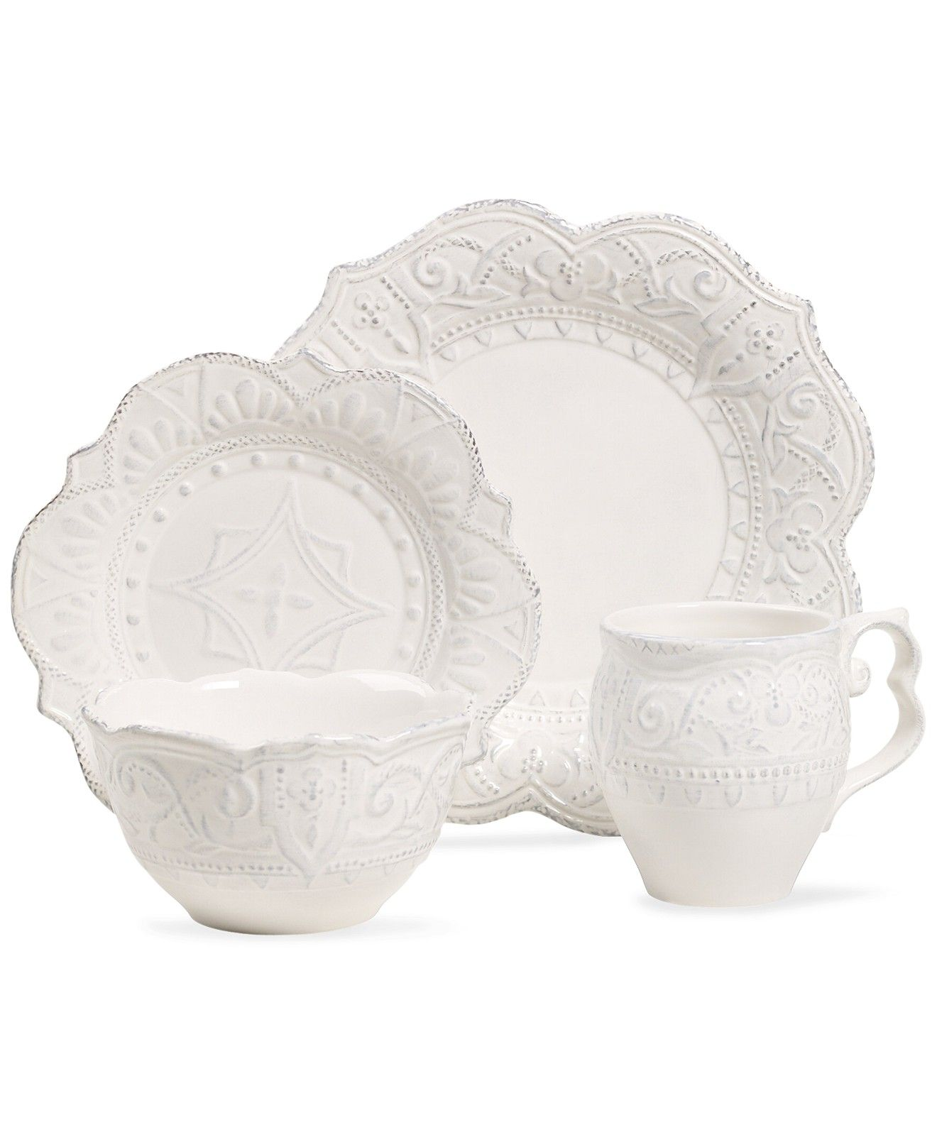 Maison Versailles Blanc Amelie Collection - Dinnerware - Dining \u0026 Entertaining - Macy\u0027s  sc 1 st  Pinterest & Maison Versailles Blanc Amelie Collection | White dishes Amelie and ...