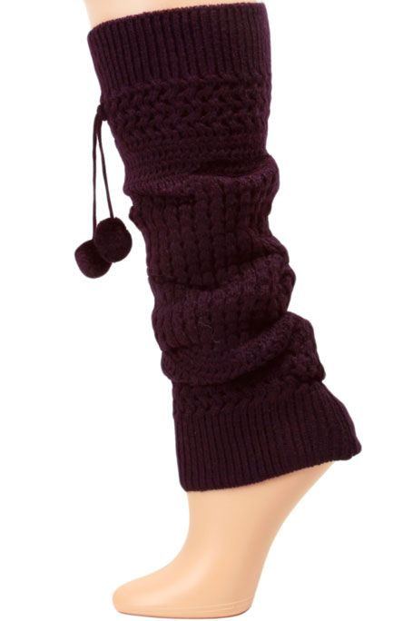 Image detail for -Yelete Cable Knit Leg Warmers - 1 Pair
