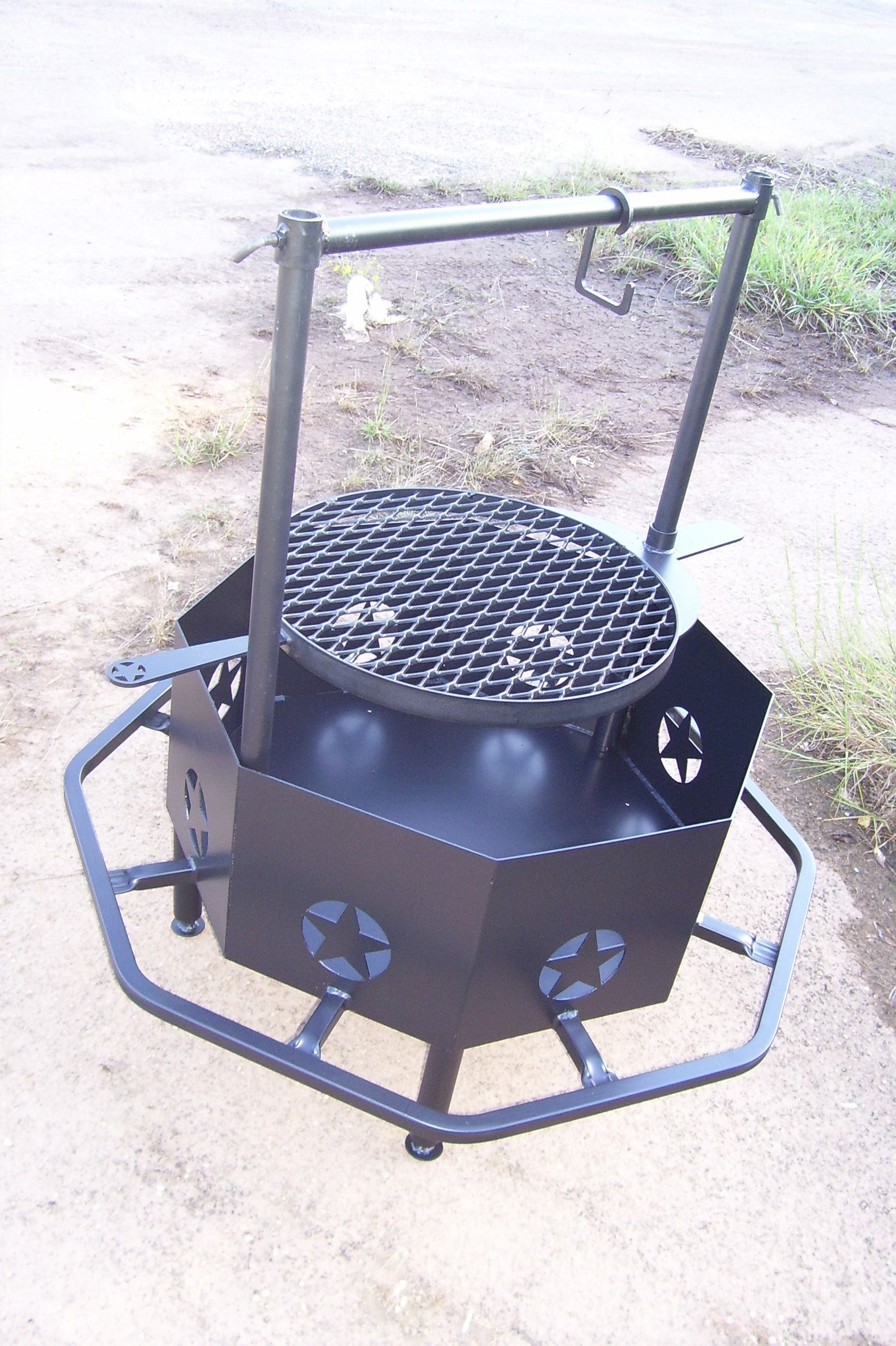 Outdoor Custom Metal Fire Pit With Octagon Fire Pit Shaped And