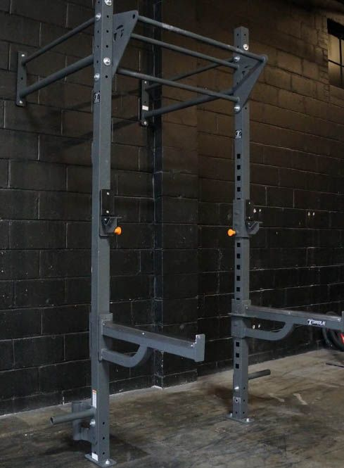 Torque fitness wall mount rack warrior garage gym