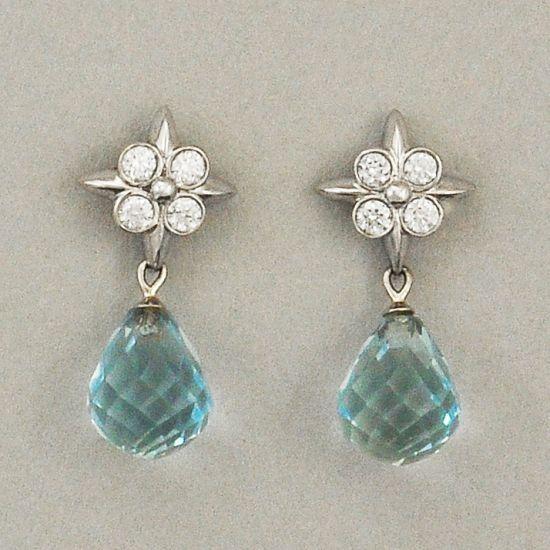 Tiffany Co Aquamarine Briolette Earrings Perry S Fine Antique Estate Jewelry