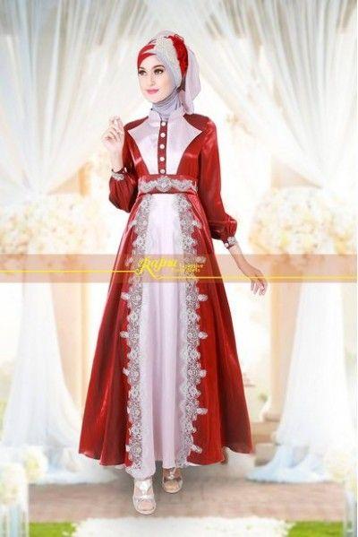Model Baju Pesta Wanita Muslim Modern 2015 Yang Mewah Cantik Dan