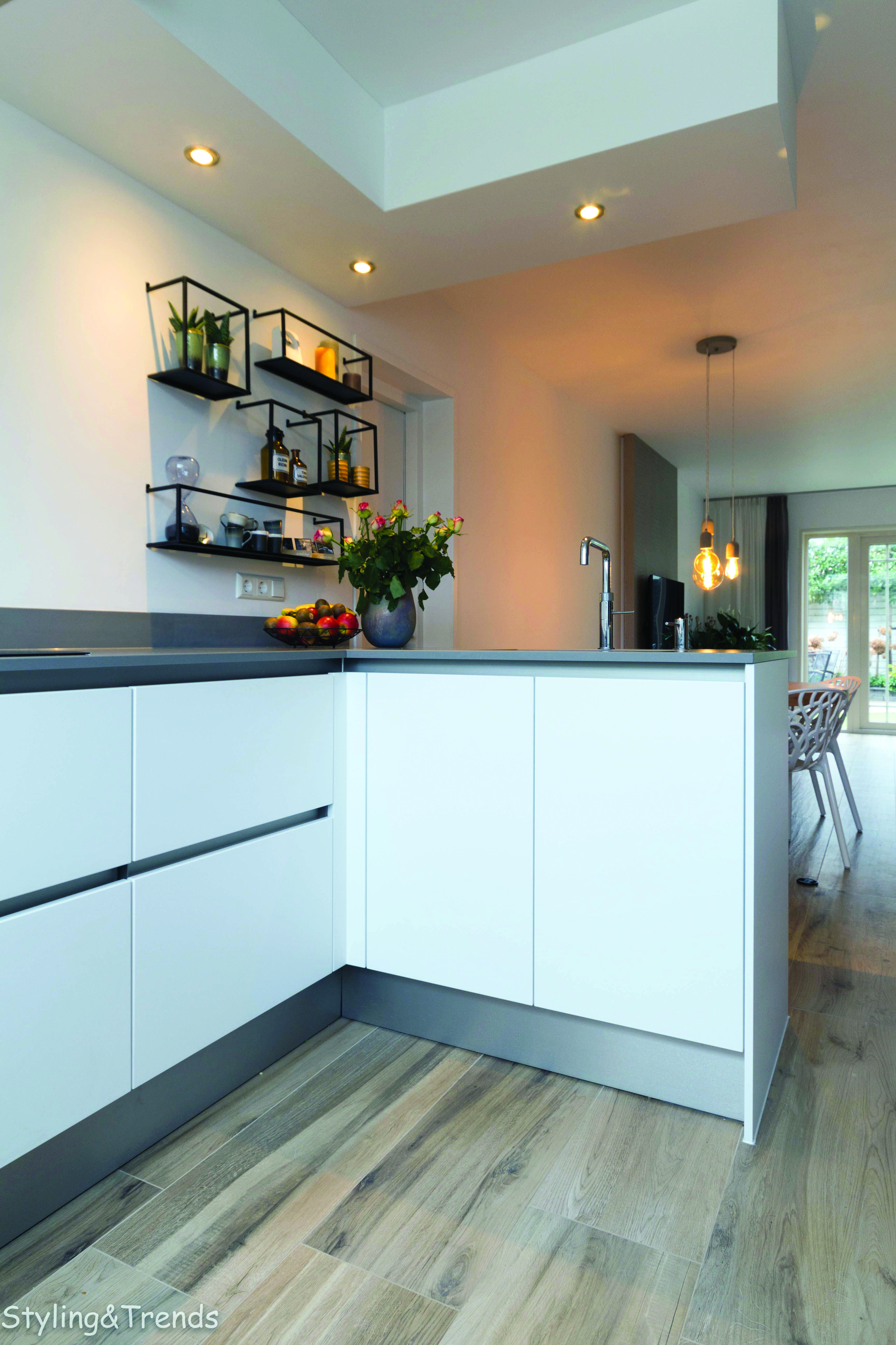 Neutral small one wall kitchen with island layout tips for