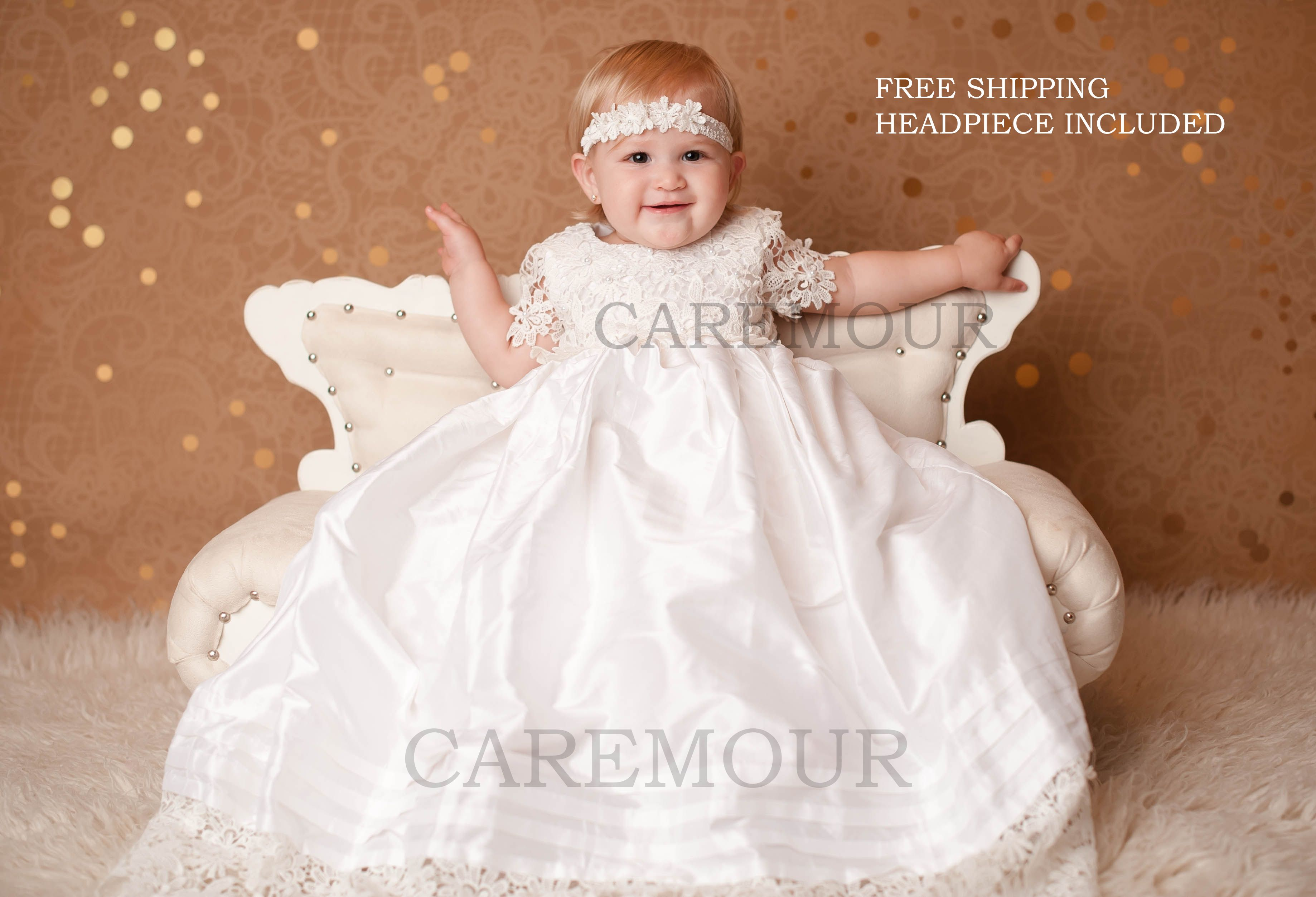 Caremour Christening gowns, Christening gown, Baptism gown, baptism ...