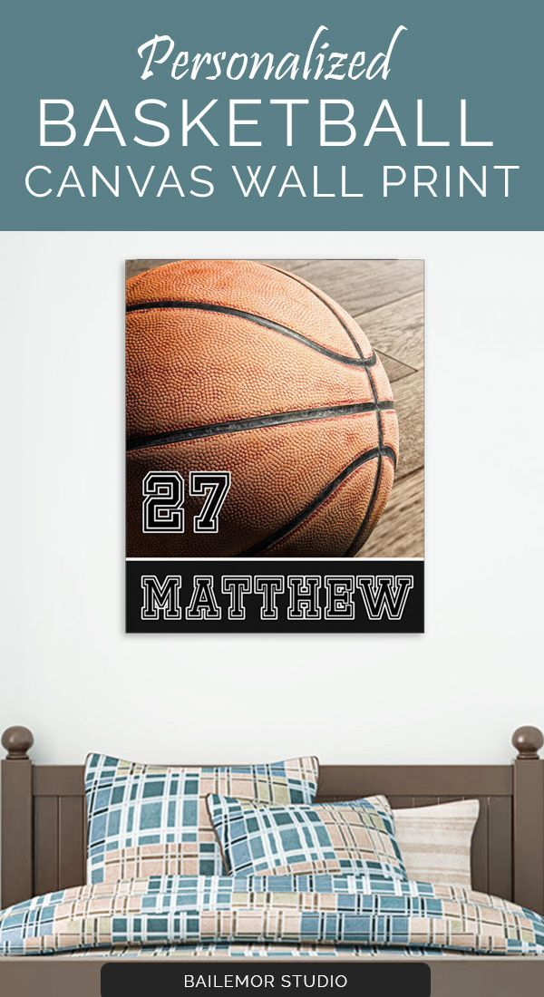 Personalized Basketball Bedroom Decor Canvas Print | Kids Bedroom Decor +  Organization | Pinterest | Basketball Bedroom, Bedrooms And Canvases