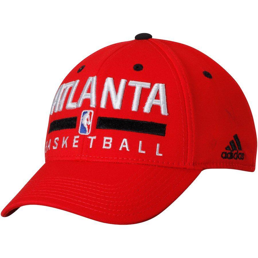 a6fdd5d882f Men s Atlanta Hawks adidas Red Practice Flex Hat
