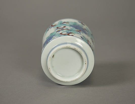 One of Three Cups with Floral Designs, from a Set of Twenty, sideview